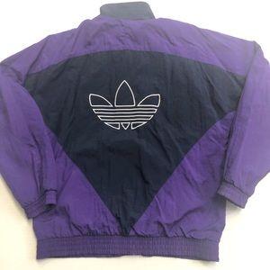 Vintage Adidas Lined Track Jacket Small Trefoil